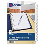 Avery Preprinted Tab Dividers, 12-Tab, 8 1/2 x 5 1/2