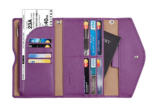 Travelambo Rfid Blocking Passport Holder Wallet & Travel Wallet Envelope (purple)