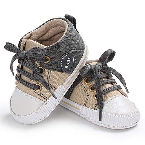 Unisex Baby Boys Girls Star High Top Sneaker Soft Anti-Slip Sole Newborn Infant First Walkers Canvas Denim Shoes -