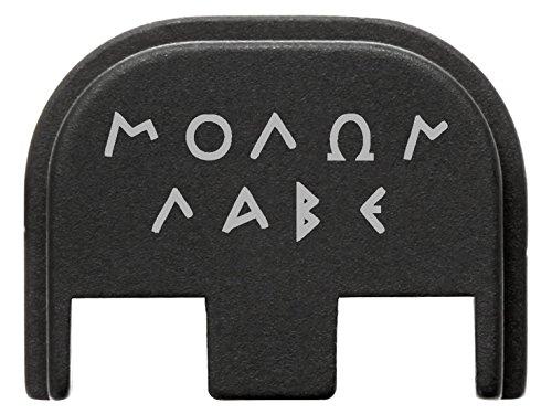 for Glock Gen 5 Back Plate 9mm 17 19 19x 26 34 Black NDZ Molon Labe Old Styled (Custom Parts Glock)