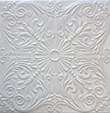 R39 White 20x20 Amazing Styrofoam Tin Look Ceiling Tiles Easy To Glue Up On Any Type Of Surface