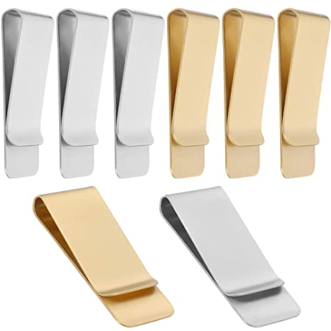 3 Pack Slim Silver Stainless Steel Clips Wallet Bill Clips Metal Credit Card Holder for Men and Women Money Clips