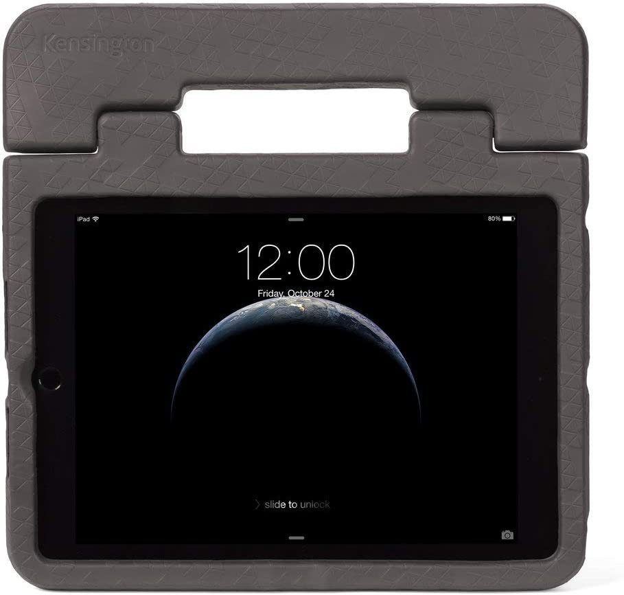 "Kensington iPad 9.7 SafeGrip Rugged Case for Kids - iPad Air 9.7"" and iPad 9.7''- Charcoal (K97446WW)"