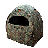 XGear Outdoors Spring Steel Doghouse Blind Game Hunting Shooting Blind 60''L x 60''W x 65''H, Camouflage