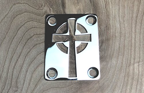 Celtic Cross Neck Plate for your Custom Guitar or Bass - Chrome