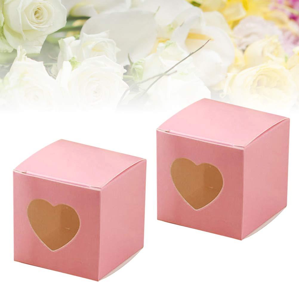 BESTONZON 50 piezas cuadradas de papel kraft cajas de dulces de ...
