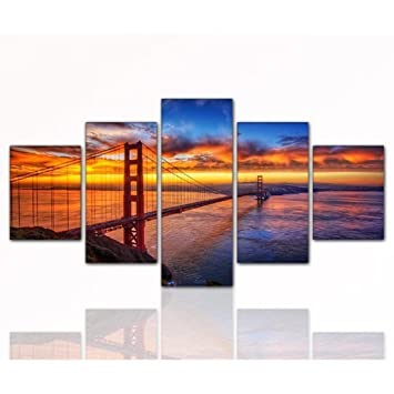 Amazon.de: 80x160cm TOP Bilder! 5 teiliges Wandbild xxl günstig ...