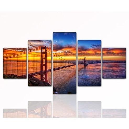 Amazon.de: 80x160cm TOP Bilder! 5 teiliges Wandbild xxl günstig ...