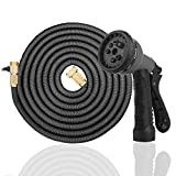 3 4 flat faucet washer - Garden Hose, Sehon 50ft Lightweight & Durable Expandable Garden Hose with 8 Functions Sprayer nozzle, with Double Latex Solid Brass Connector Strong Garden Hose - with Storage Bag