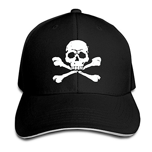 IEHFE Multicolor Cotton Pirate Skull Adjustable Baseball Cap Hip Hop Casquette Dad Hat For Men Women (Pirate Cap Guns)