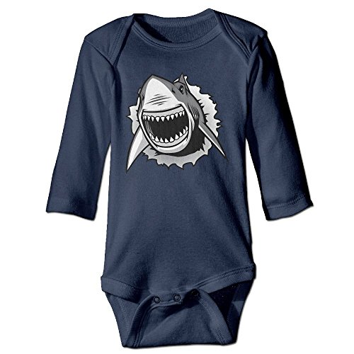 Lifeguard And Swimmer Costume (Hatted Cat Cartoon Shark Mouth Pattern Cute Unisex Long Sleeve Baby Clothes)