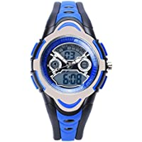 FSX-212G Sports Analog Digital Dual Time Water Resistant Wrist Watches for Kids Children Boys Girls