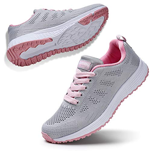 STQ Women Super Light Shoes for Basket Femme White Sneakers Fashion Women Casual Shoes Light Grey - Femme Fashion La