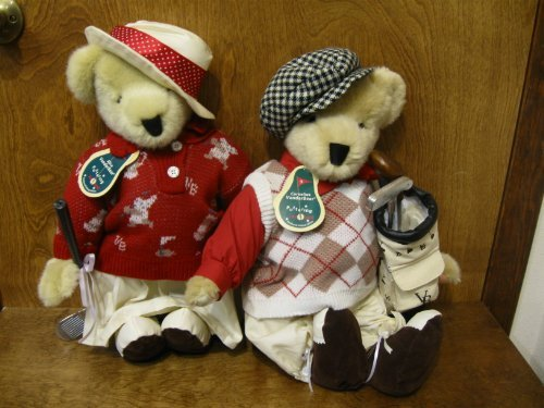 VanderBears North American Bear Co. Cornelius & Alice, Puttering Around, Limited Edition Collectible (Golfing Teddy Bear)