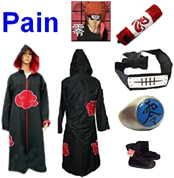 Naruto akats Uki Pain Cosplay Disfraz Set (akats Uki Cloak/HA ...