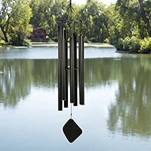 Music of the Spheres Mongolian Tenor 60 Inch Wind Chime, Black .#GH45843 3468-T34562FD768744