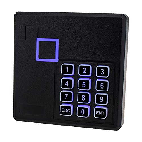 LIBO IP65 Waterproof RFID Reader Access Control Card Reader 13.56MHz Smart Card Keypad Lock with LED for Door Security System (103 IC) by LIBO Smart Home
