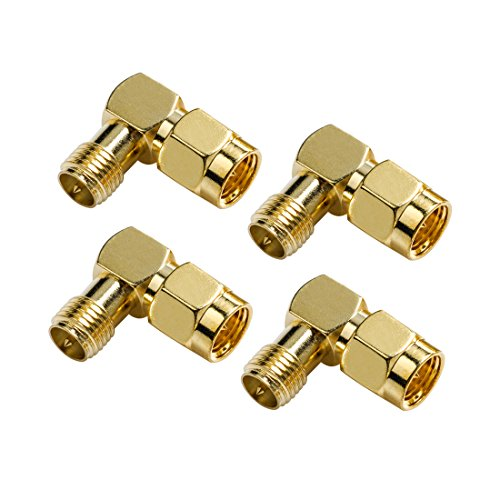 Wirelessan SMA Male to RP-SMA Female Coupling Nut Connector Adapter for Wi-Fi Antenna/FPV Drone/Signal Booster/Repeaters/Radio/RF Coaxial Coax/Extension Cable (Pack of 4)