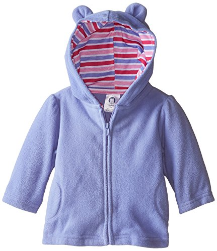 Gerber Baby and Little Girls' Printed Micro Fleece Jacket with Lined Hood