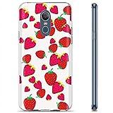 [Mobiflare] LG LG Stylo 4 / Q Stylus [Clear] Ultraflex Thin Gel Phone Cover [Strawberries Print]