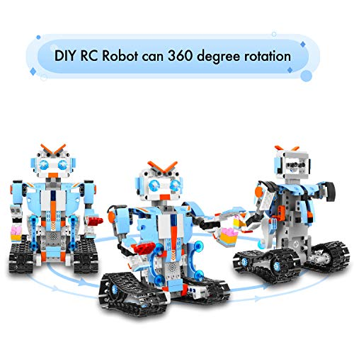 AOKESI Remote Control Robot DIY Building Blocks Educational Kit Engineering STEM Learning Toys Intelligent Gift for Kids (351 Pieces) by AOKESI (Image #5)