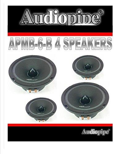 4 AUDIOPIPE APMB 6 6.5 6 CAR AUDIO LOUD SPEAKER PAIR LOW MID