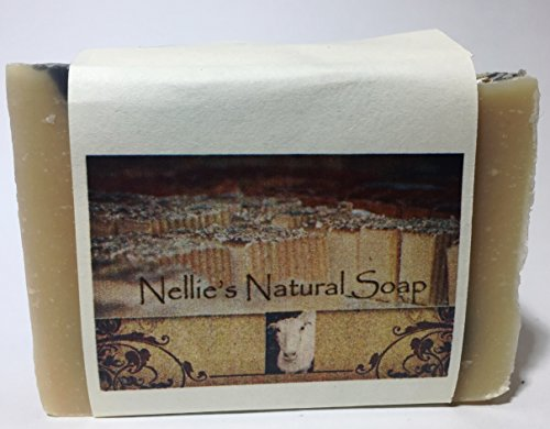 Nellie's Natural Soap Goat's Milk Soap - Tea Tree with bamboo charcoal - 3 bars