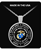 Father Son Necklace - Marines Pendant - Inspirational - Love Dad