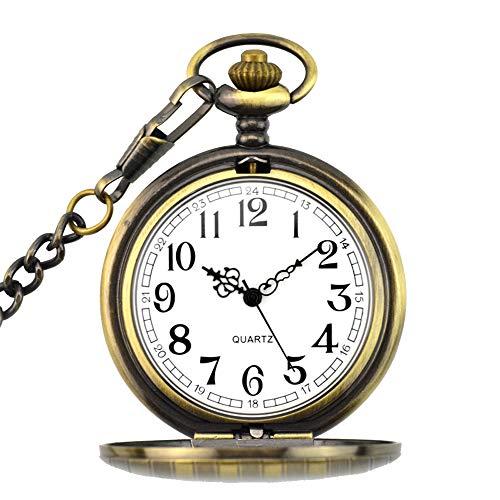 f954dd675276 BestFire Pocket Watch Vintage Quartz Pocket Watch Classical Sculptured Fob  Pocket Watch with Short Chain for Men Women - Gift Box for Birthday  Anniversary ...