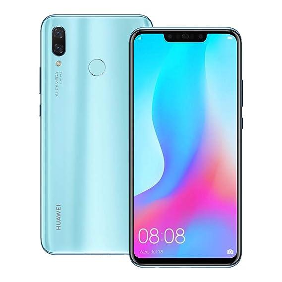 Huawei nova 3 (PAR-LX9) 6GB / 128GB 6 3-inches LTE Dual SIM Factory  Unlocked - International Stock No Warranty (Airy Blue)