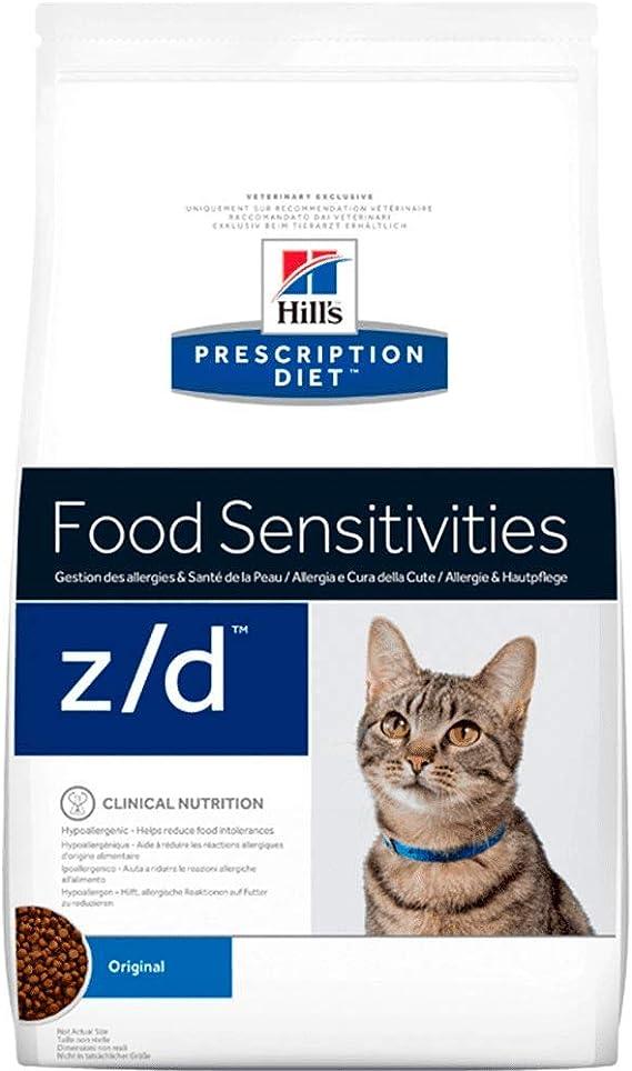 Hills Dieta de prescripción z/d Alérgenos bajos felinos secos para gatos 2kg