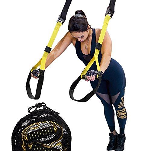 Belldan Suspension Trainer Sangles, Lot de bandes de résistance d'exercices, poids résistance d'entraînement, sport, Heavy Duty résistance Fitness d'entraînement pour Home