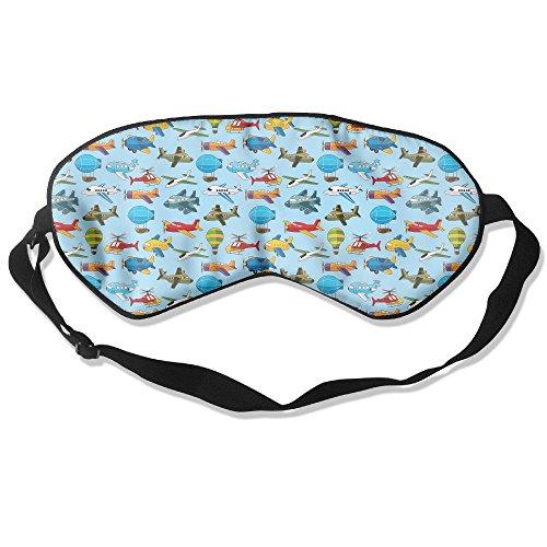 WUGOU Sleep Eye Mask Airship Plane Texture Lightweight Soft Blindfold Adjustable Head Strap Eyeshade Travel Eyepatch]()