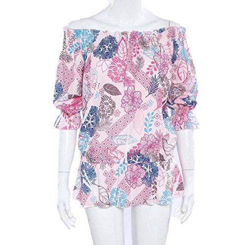 Yogogo Sommer-Strand-Mode-T-Shirt Frauen Bra gedrucktes T-Shirt Langarm-Tops