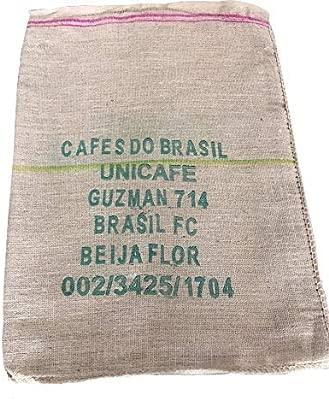 SABOREATE Y CAFE THE FLAVOUR SHOP Tela de Saco de Café de Origen Brasil Reutilizado para Tapizar de Yute Arpillera 100% Natural (60 cm x 90 cm)