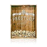 18x24 Wine Cork Holder - Monogrammed- Shadow Box Display - Wedding Guest Book - Personalized Wine Cork Holder