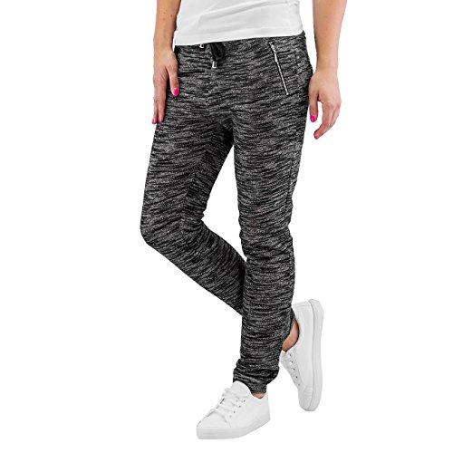 Hailys Mujeres Pantalones / Pantalón deportivo Moni gris