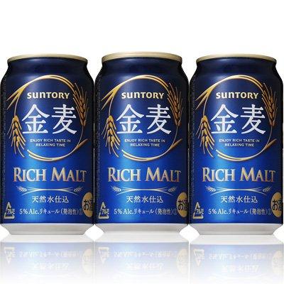 【3CS】サントリー金麦350ml(6缶パック×4入)×3ケース発泡酒第3サントリーHD  B0756BNK56