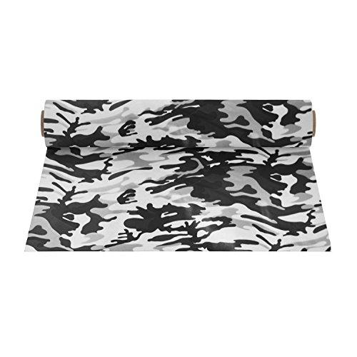 Firefly Craft Patterned Heat Transfer Vinyl for Silhouette and Cricut, 12 Inch by 19.5 Inch, Grey Camo