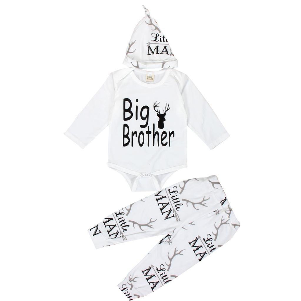 ec0090febe1 Amazon.com  FEITONG Baby Boy s Christmas Romper+ Pants+ Hat Set (18 Months