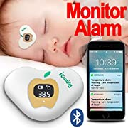 Bluetooth Smart Digital Thermometers for Fever Wearable on Forehead and Axillary with APP Connecting to Cell Phone FaShaoLe for Monitor and Alarm Applying to Baby Kid Infant Toddler Children Or Adult