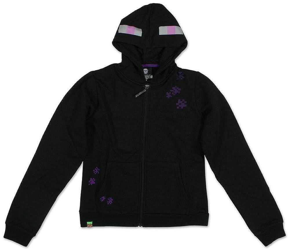Minecraft Enderman Zip-Up Hoodie Youth Black Jacket X-Small