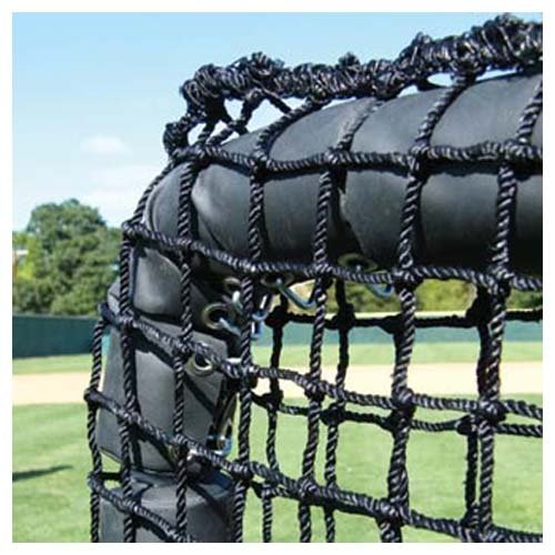Jugs Square Screen - JUGS SPORTS Replacement Netting for The 7'H x 7'W ProtectorTM Series Square Screen with Sock-NetTM