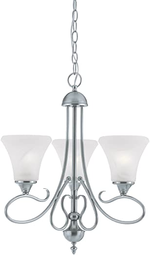 Thomas Lighting Sl8113-78 Elipse Three-Light Chandelier, Brushed Nickel