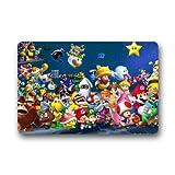 CoolYoYo Super Mario Pattern Custom Doormat Design Non-woven Fabric Multifuntional Doormat Indoor or Outdoor Use Size 23.6''*15.7''