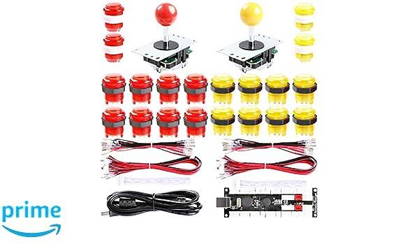 Easyget 2-Player DIY Arcade Kit Zero Delay 2-Player USB