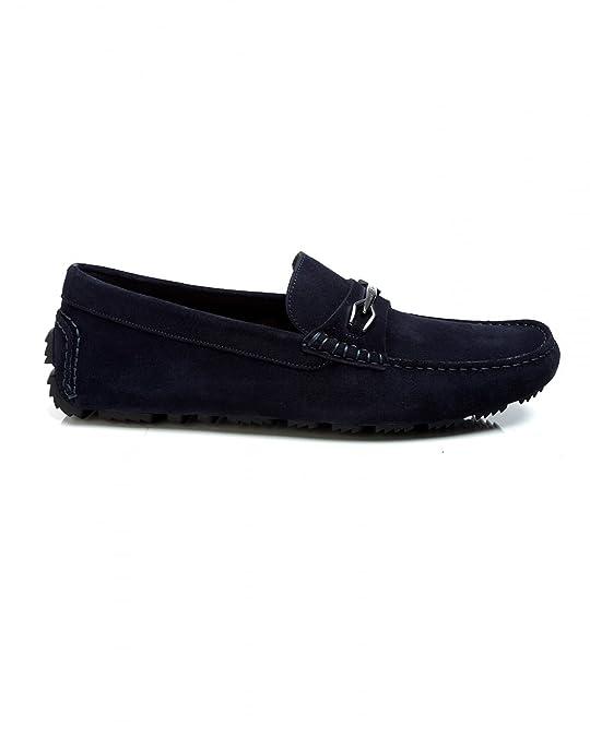 Hugo Boss - Mocasines para Hombre Azul Azul Marino: Amazon.es: Zapatos y complementos