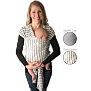 Baby Wrap Carrier, Stripes, Easy To Put On- Swaddle Blanket for Close Comfort - Adjustable Breastfeeding Cover - Lightweight Sling Baby Carrier for Infant - Soft, Comfortable & Breathable