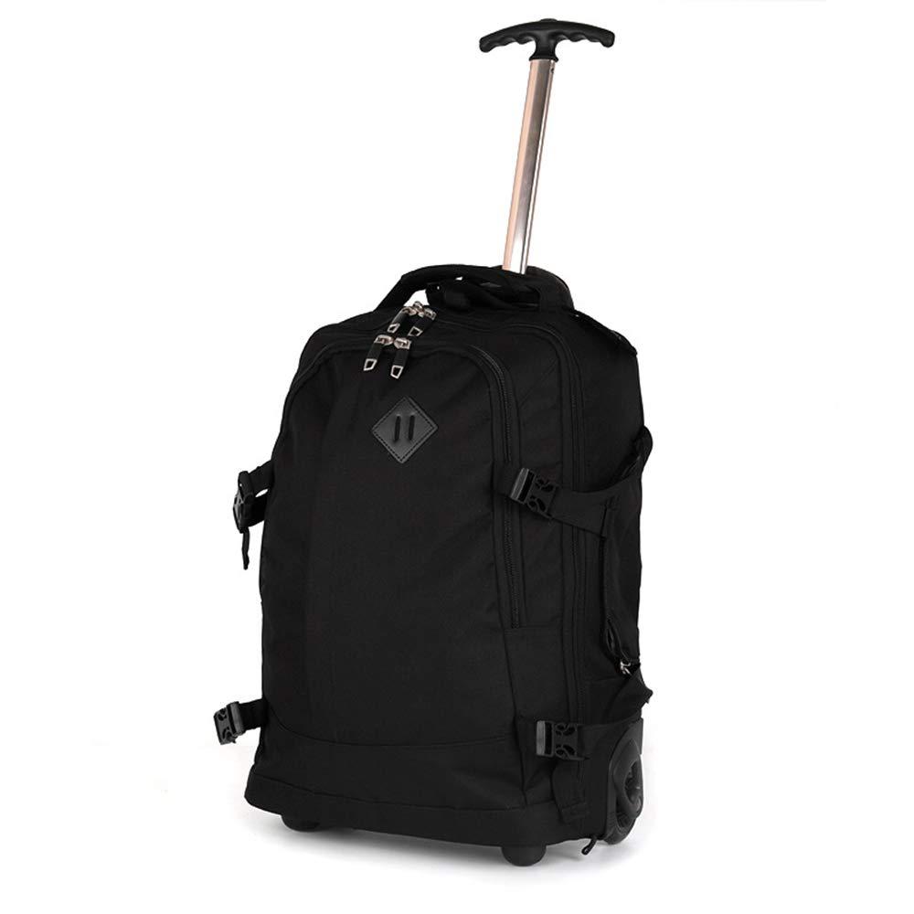 ラップトップバックパック、18インチ出張兼用トロリーバッグ、男性と女性の多機能隠しストラップトロリー B07TB9CQG9