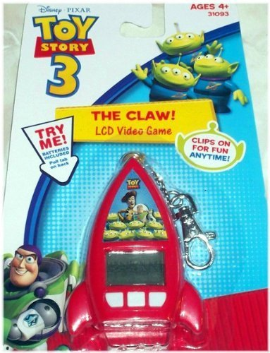 Disney Pixar Toy Story 3 The Claw LCD Video Game Keychain (Lcd Keychain Key Ring)